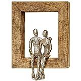 Home Collection Objeto Decorativo de Pared Pareja Novios con Marco de Madera 30 cm