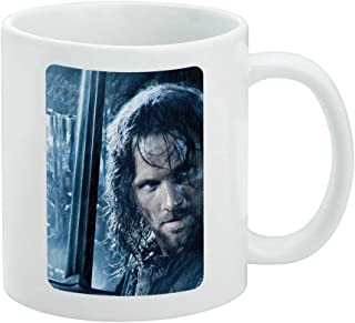 The Lord of the Rings Aragorn Character White Mug