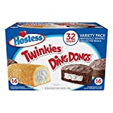 Hostess Twinkies & Ding Dongs (32 ct, 16 each) Individually Wrapped