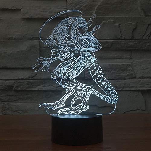 Cadeau Alien kleurrijk licht LED Touch Vision 3D licht persoonlijkheid op maat gemaakt reclamebord licht desktop tafellamp