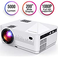DBPOWER L21 Full HD 1080p 5000-Lumens LCD Home Theater Projector