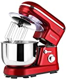 Nestling 5L Stand Mixer 1200W with Mixing Bowl, 5 Speed Tilt-Head Kitchen Electric Mixer, Dough Hook, Whisk, Beater for Wheaten Food, Salad, Cake (Red)
