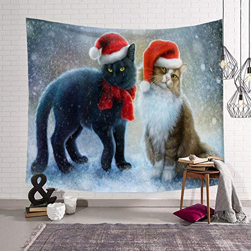 Christmas tapestry bedroom living room tapestry home decoration Christmas Hat Christmas New Year