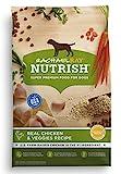Rachael Ray Nutrish Premium Natural Dry Dog Food, Real Chicken & Veggies Recipe, 6 Pounds