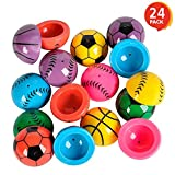 ArtCreativity 1.25 Inch Vinyl Sport Ball Poppers - Pack of 24 - Assorted Colors - Awesome Pop Up Toy - Ideal Impulse Item - Great Small Game Prize, Party Favor and Gift Idea for Boys and Girls Ages 3+