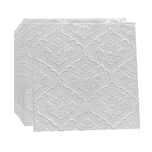 Paneles de pared 3D 10 PCS 3D Paneles de pared Azulejo Ladrillo Pegatinas de pared con patrón de pared Revestimiento de pared Autoadhesivo Ladrillo Papel pintado Fondo de pantalla Espuma Impermeable E