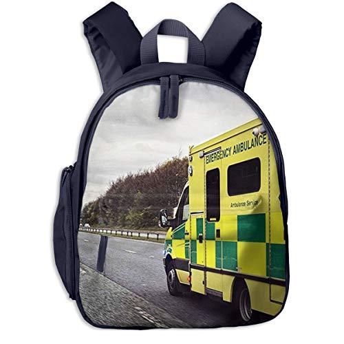 Mochila para Niños Vehículo de Ambulancia, Mochila Escuela Primaria De Edad Peso Ligero Pérdida Mochila De Viaje para Chico Chica