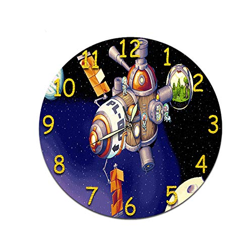LUOYLYM Geschenk Uhr Wanduhr Acryl Mute Movement Clock Wandaufkleber Clock Borderless Wecker  M-042 (Luminous Pointer) 28CM
