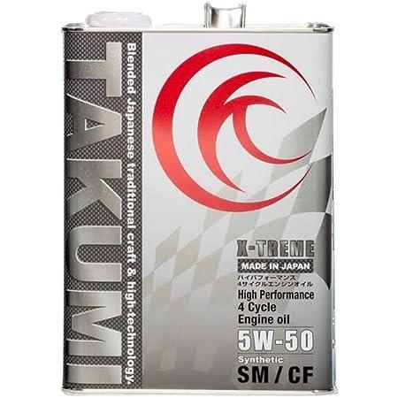 TAKUMIモーターオイル エンジンオイル 5W-50 4L 4輪ガソリン/ディーゼル車用 化学合成油 サーキットスペック