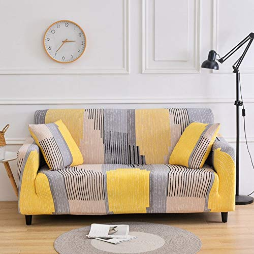 WXQY Funda de sofá Funda elástica para sofá, Utilizada para la Funda de sofá elástica de la Sala de Estar, Funda de sofá Modular en Forma de L, Funda Protectora de Silla A20 de 3 plazas