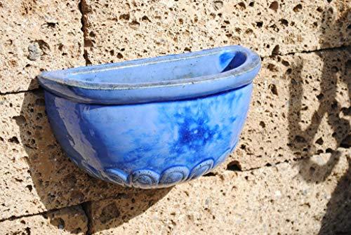 Kunert-Keramik Wandgefäß aus frostfestem Steingut,wunderschönes Blau,32cm