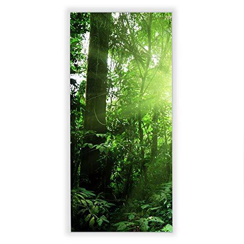 Banjado Wechselscheibe für IKEA GYLLEN Wandlampe | Glasscheibe für Wandleuchte 56x26cm | Echtglas Motiv Dschungel Malaysia | Hochformat