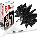 Holikme 50 Feet Dryer Vent Cleaner Kit Lint Remover Flexible Dryer Vent Cleaning Brush Extends Up to 50 Feet