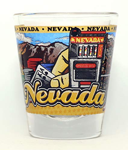 Nevada State Wraparound Shot Glass