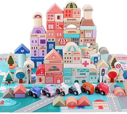 GQLB DIY Anime 3D-Modell Building Blocks Puzzle Early Education Infant Mädchen-Baby-2-3-6 Jahre alt Boy 4 Multifunktions5 Holz DIY Anime 3D-Modell