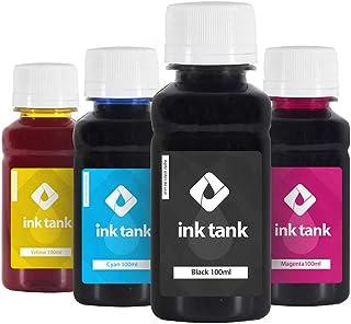 Compatível: Kit 4 Tintas Epson L355   L200 Ecotank CMYK 100 ml - Ink Tank KIT 4 TINTAS PARA EPSON L355 L200 CORANTE ECOTAN...