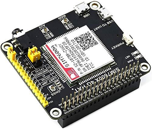 Ingcool 4G/3G/GNSS HAT Modul für Raspberry Pi 4B/3B+/3B/2B/Zero/Zero W/Zero WH, Jetson Nano, basierend auf SIM7600A-H, 4G/GNSS Modul unterstützt LTE CAT4 bis zu 150Mbps für Datenübertragung etc.