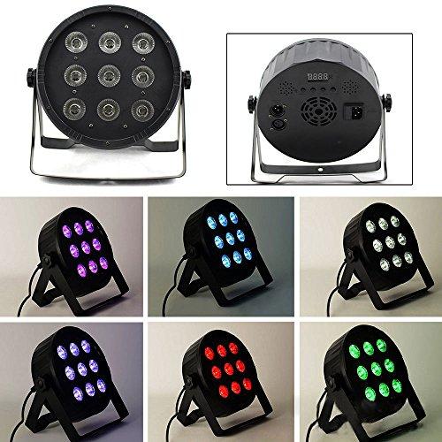 4en 1RGBW LED PAR 64DMX 512Faro 9x 10W Spot Wash Floor Spot DJ Luz