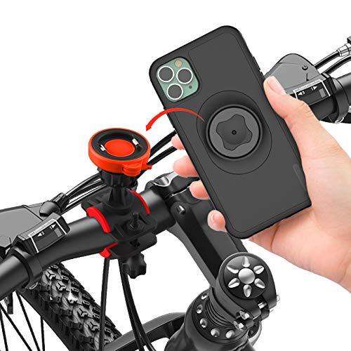 CQ Handy Fahrradhalterung mit iPhone 11 Pro Hülle Integrierter Ultra-Lock und Schnellmontage 360 Drehbar Verstellbare Smartphone Halterung Fahrrad Handyhalterung Fahrrad Motorrad Handyhalterung