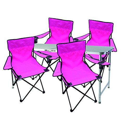 Mojawo - Multistore 2002 - Juego de Mesa y 4 sillas Plegables para Acampada...