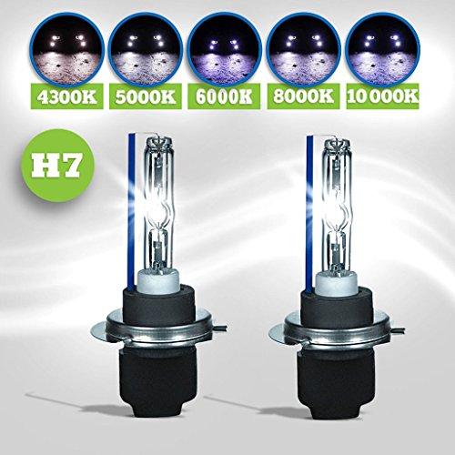 SHINA 35W BASE MÉTALLIQUE H7 HID Xenon remplacement ampoules phare lampe lumière