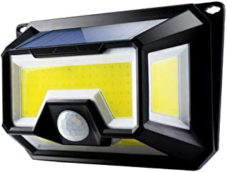 Outdoor Super Bright Outdoor Wall Lamp 4 Sides 154 COB LED Solar Powered Motion Sensor