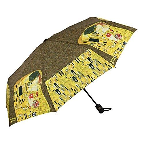 MySchirm Designer Taschenschirm Gustav Klimt: 'Der Kuss' - Eleganter Regenschirm - Luxus Design