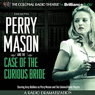 Perry Mason and the Case of the Curious Bride audiobook cover art