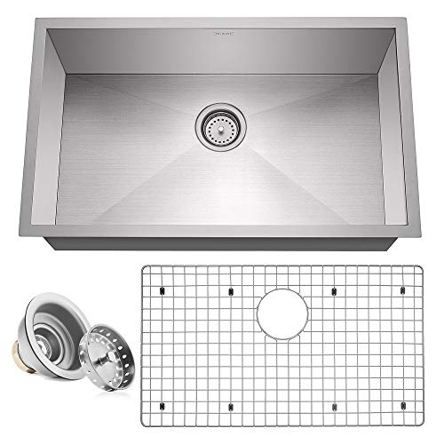 Miligore 30' x 18' x 10' Deep Single Bowl Undermount Zero Radius 16-Gauge Stainless Steel...