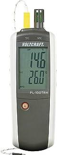 Hygrometer VOLTCRAFT PL-100TRH 0 % rF 100 % rF -200 °C +1372 °C Kalibrerad enligt: (ej certifierad kalibrering)