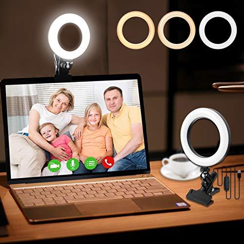 Video Konferenz-Beleuchtungsset,Beleuchtung für Monitor-Clip-On,Füllen Sie das Licht,Ringbeleuchtung,Video Licht,Videobeleuchtung für Fernarbeit,Selbstübertragung,Live Streaming,Zoom-Anrufe