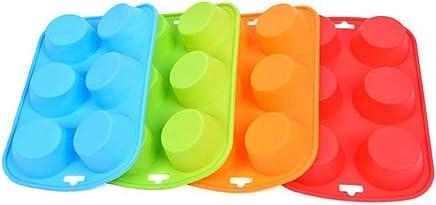 Placa de pastel de silicona para hornear bricolaje pastel de galletas molde 6 agujeros de silicona