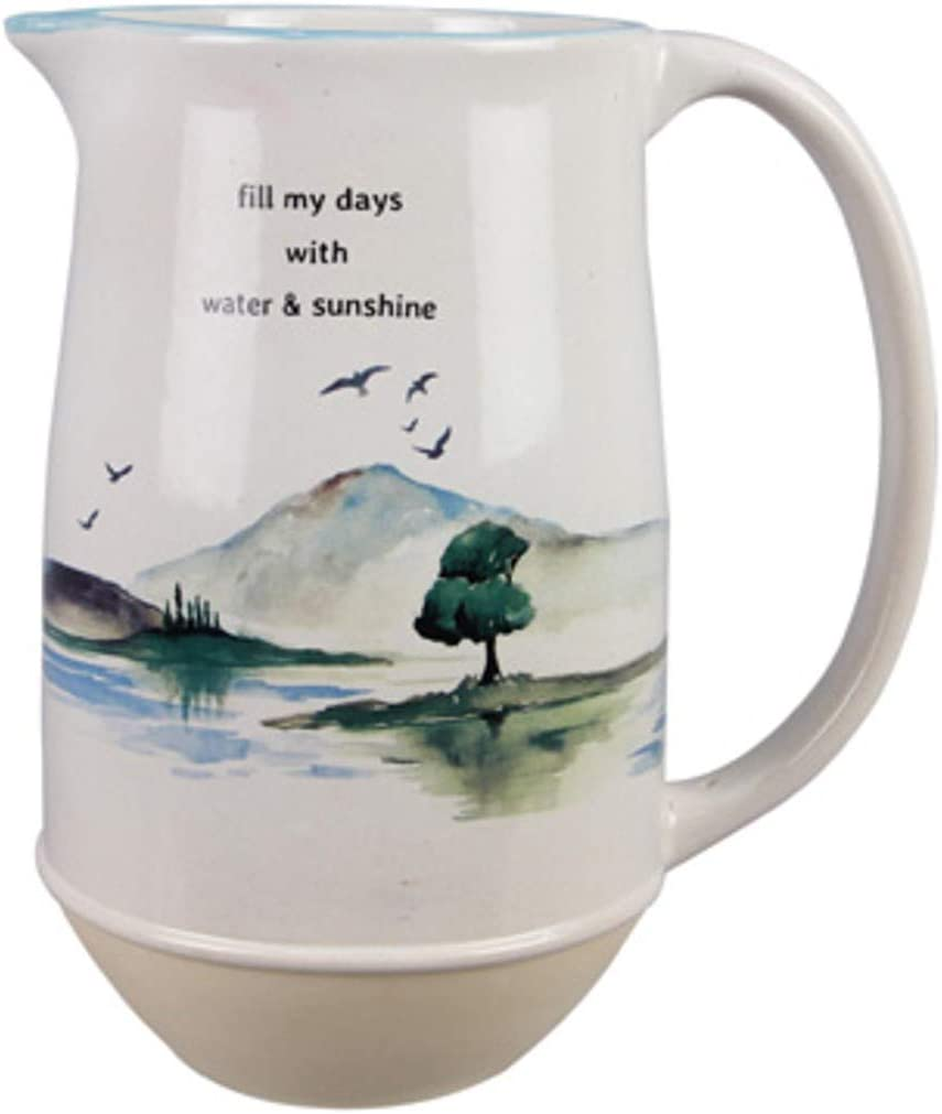 Youngs 20648 Ceramic Finally resale start Waters Pitcher Edge Free Shipping Cheap Bargain Gift Multicolor Water
