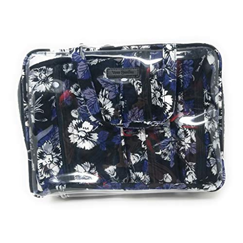 Vera Bradley Women's 4 Piece Cosmetic Makeup Organizer Bag Set, Frosted Floral, One Size