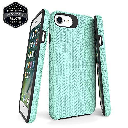 Moment Dextrad Designed for iPhone SE 2020 Case,iPhone 7 Case,iPhone 8 Case,iPhone 6s 6 Case, Protective Full Body Cover (Military Grade) Slim Thin Defender Bumper Phone Skin (Green)