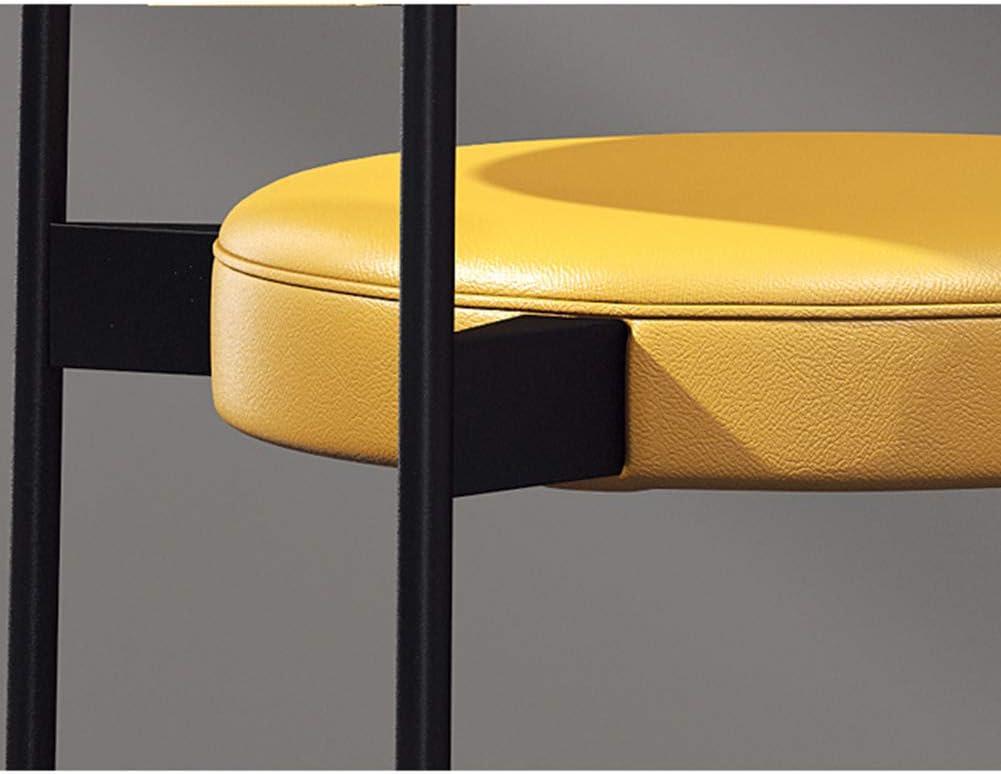 AP.DISHU Moderne Chaises De Salle À Manger Tissu en Cuir Chaise D'appoint pour La Cuisine Salle À Manger Métal Chaises,Jaune Yellow
