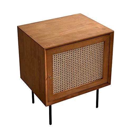 TXOZ-Q - Tavolino in legno per soggiorno, camera da letto, struttura massiccia ed ecologica, in pino