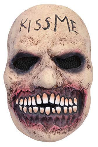 Horror Kiss Me Maske für Erwachsene, Gruselig, Halloween-Kostüm, Kostüm-Zubehör