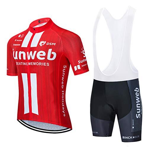 CHHBS Sommer Kurzarm Radsport Anzüge, Pro Team Fahrradbekleidung Herren Outdoor Sport Fahrradbekleidung für Sommer