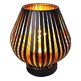 HAB & GUT LED Deko Windlicht Kupfer L237- KONUS Lampe Metall Tischlampe Streifen