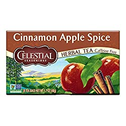 An invigorating herb tea with a flavor that's equal parts freshly ground cinnamon and juicy red apples. Package Description: 20 Tea Bags Serving Size: 1 Tea Bag (makes 8 oz.) Number of Servings: 20 Unit Type: Each