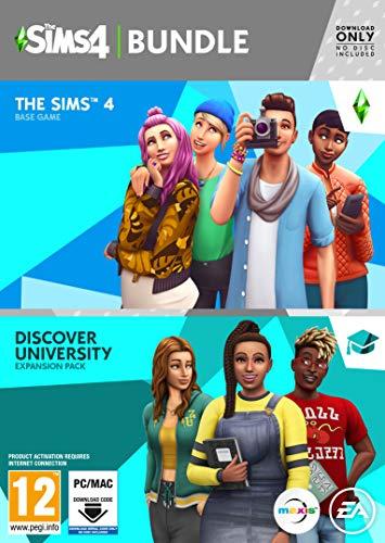 The Sims 4 Plus Discover University Bundle (PC Code in Box) [Importación inglesa]