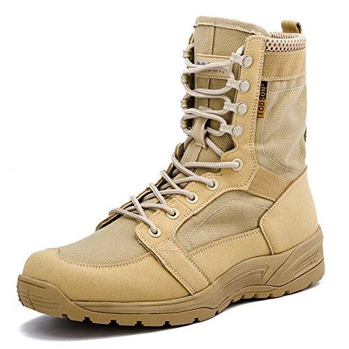 Botas Militares de los Hombres ultraligeros, Botas Tácticas de Combate Transpirables, Zapatos...