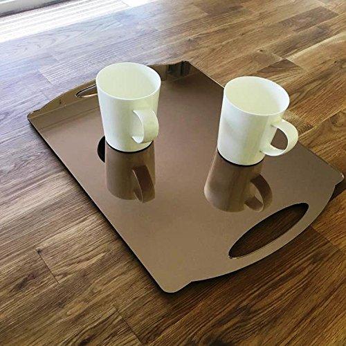 Vassoio rettangolare piatto - specchio bronzo