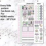 BLOUR 2 unids/Pack IR a la librería Etiqueta semanal Pegatina Decorativa DIY planificador Diario Pegatinas adecuadas para Las semanas Hobonichi