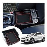 LFOTPP XCeed Apoyabrazos Consola Central Bandeja, Caja de Almacenamiento Organizador coche Interior Accesorios (Rojo)