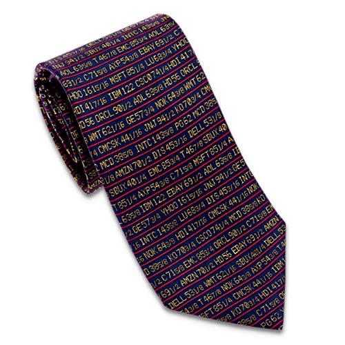 WILHJGH Corbata De Hombre De Wall Street Con Teletipo Azul