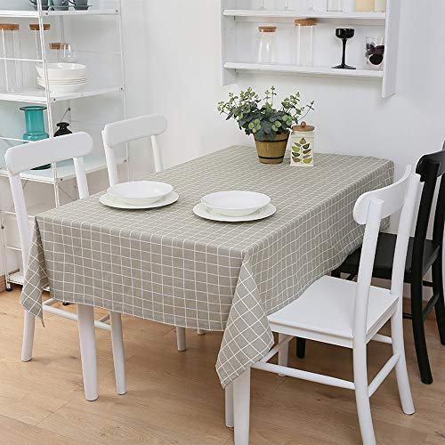 Tischdecke aus Baumwollleinen - LRY Moderne minimalistische literarische Tischdecke Couchtisch Restaurant wasserdichte Tischdecke geeignet für...