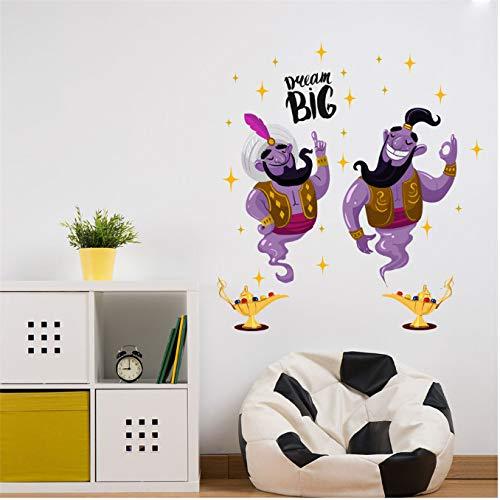 xingtuwaimao Papel Pintado Pegatinas Dibujos Animados Lámpara De Aladino Etiqueta De La Pared Sala De Estar Habitación De Los Niños Sofá Fondo Decoración Etiqueta