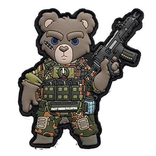 TACOPSGEAR Teddy Teddybär Bundeswehr Soldat Armee Airsoft Heer Flecktarn Morale Patch